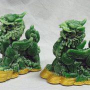Green nephrite dragon