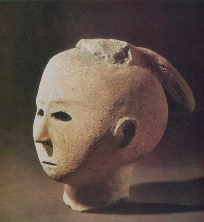 Head of the court lady. Fragment, V century