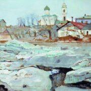 Ice drift in Pskov. 1913