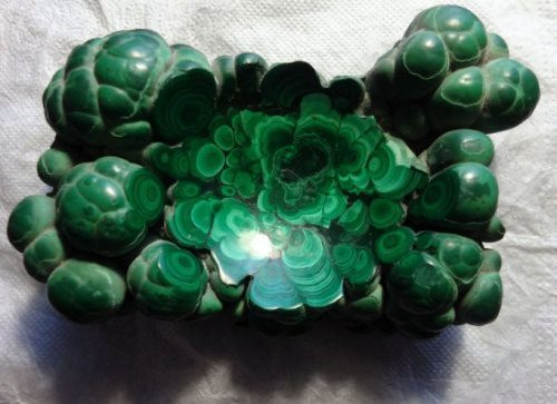 Malachite - false emerald from copper mines