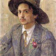 Portrait of Isaak Brodsky by Ilya Repin