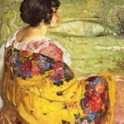 Portrait of Lyubov Makarovna Brodskaya, 1913, State Museum of Russian Art, Kiev