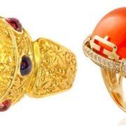Ring. Garnet, diamonds, gold
