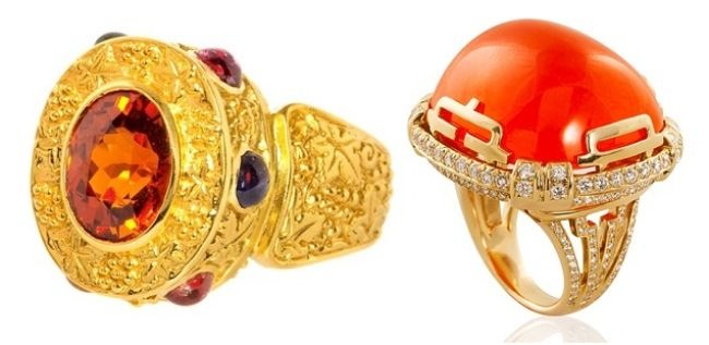Ring. Garnet, diamonds, gold