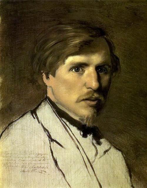 Russian painter Illarion Pryanishnikov. Portrait by V. G. Perov, 1862