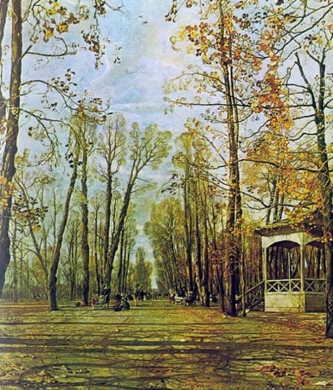 Summer Garden alley in autumn, 1928
