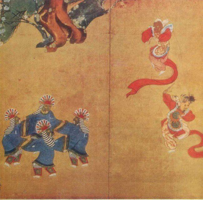Tawaraya Sotatsu. Court dances, XVII century