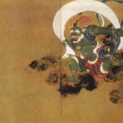 Tawaraya Sotatsu. Gods of wind and thunder. 1630