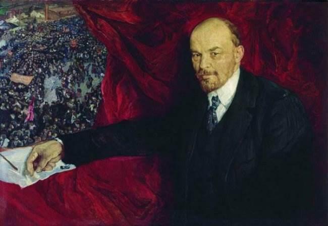 V.I. Lenin and the manifestation
