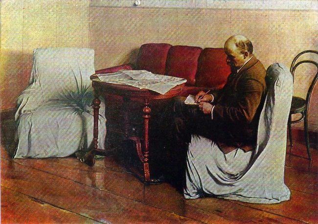 V.I. Lenin in the Smolny. 1930