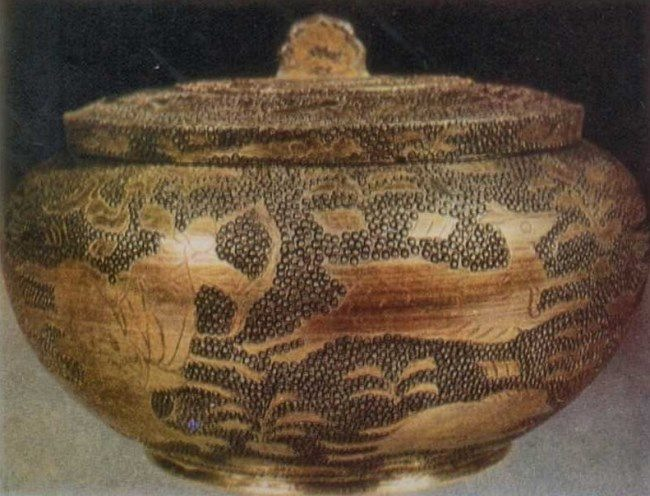 Vessel with hunting scene. VIII century