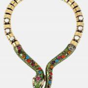 Astonishing snake necklace