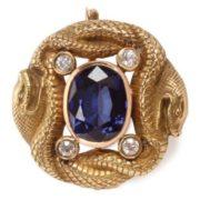 Gold, sapphires, diamonds, 1895