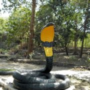 Monument to the snake in Mandalay, Myanmar