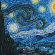 Sea Snakey Night after Van Gogh by Bill Flowers