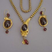 Snake necklace and earrings
