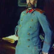 Commandant of the Mariinsky Palace, Major-General Pavel Arkadievich Shevelev (1846). 1903