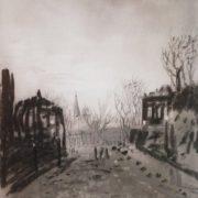 Dusk. Landscape. 1880
