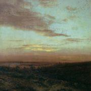 Evening. Flight of birds. 1874