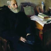 Portrait of Stepan Lukich Nikolsky, the artist's uncle. 1901