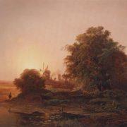 Summer landscape with mills. 1859