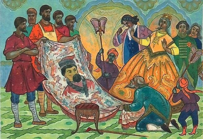 V. Smirnov. Tablecloth by M. Kochnev