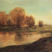 Willows at the pond. 1872