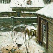 Yard. Winter