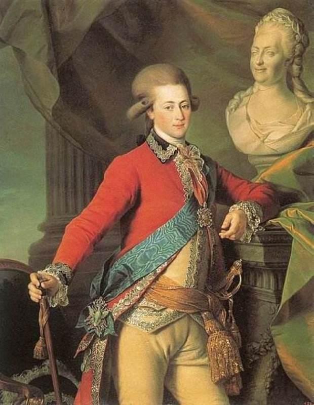 Aide-de-camp Alexander Dmitriyevich Lansky, 1782