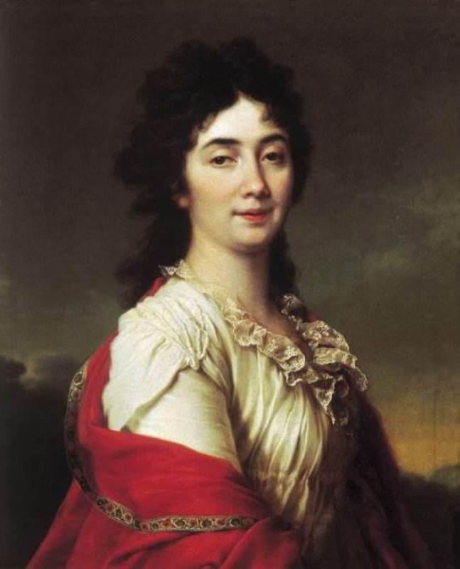 Anna Stepanovna Protasova, a former chamber-maid of honor of Empress Catherine II, 1800