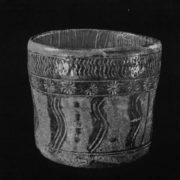 Beautiful Bowl for the tea ceremony. Mishima kilns. 16th century