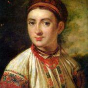 Beautiful Ukrainian girl. Early 1820s
