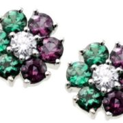Earings with alexandrite