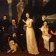 Family portrait of the Morkovs, 1813