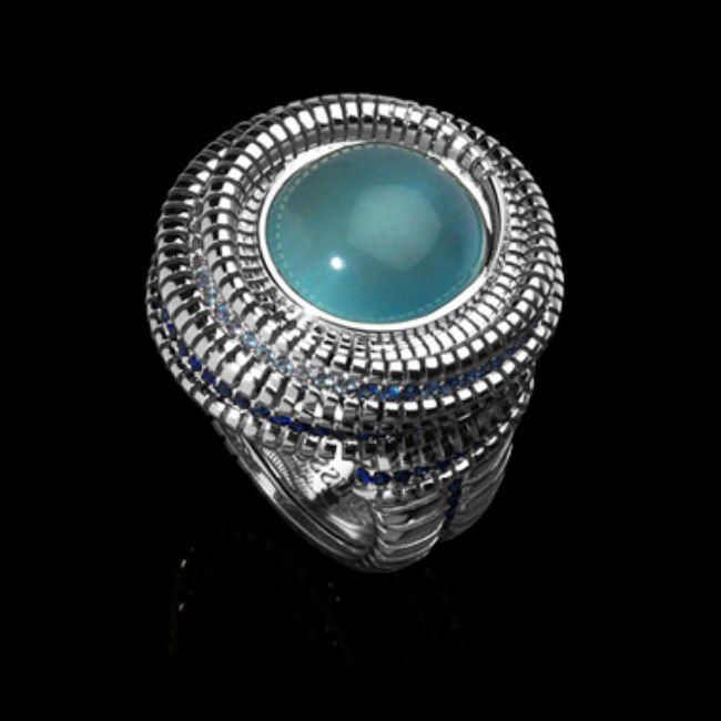 Gorgeous ring with aquamarine