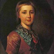 Grand Duke Alexander Pavlovich in his childhood, 1787