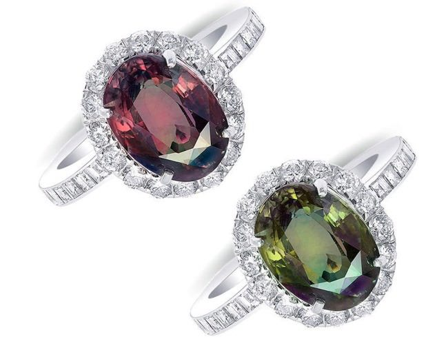Magic rings with alexandrite