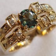 Magnificent ring with alexandrite