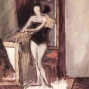 Model in front of a mirror. Lidochka, 1930