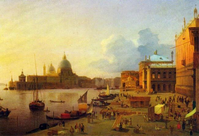 Quay of the degli Schiavoni in Venice