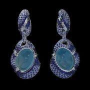 Stunning earrings with aquamarine