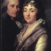 V.I. Mitrofanov and his wife, M.A. Mitrofanova