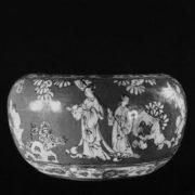 Vessel. Kyoto kilns. Master Shinsho. Early 18th century. Faience.