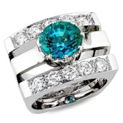 Wonderful ring with alexandrite