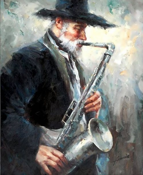 Adams Old Man with Sax
