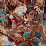 Alexei Lashkevich. Two violins and saxophone