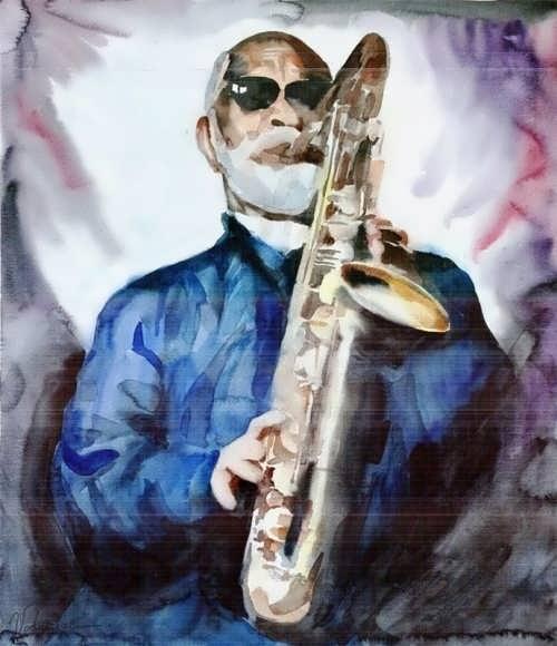 Alina Vodniciar. Saxophone Player