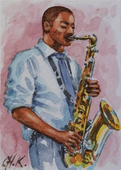 Christine Karron. Saxophone Player
