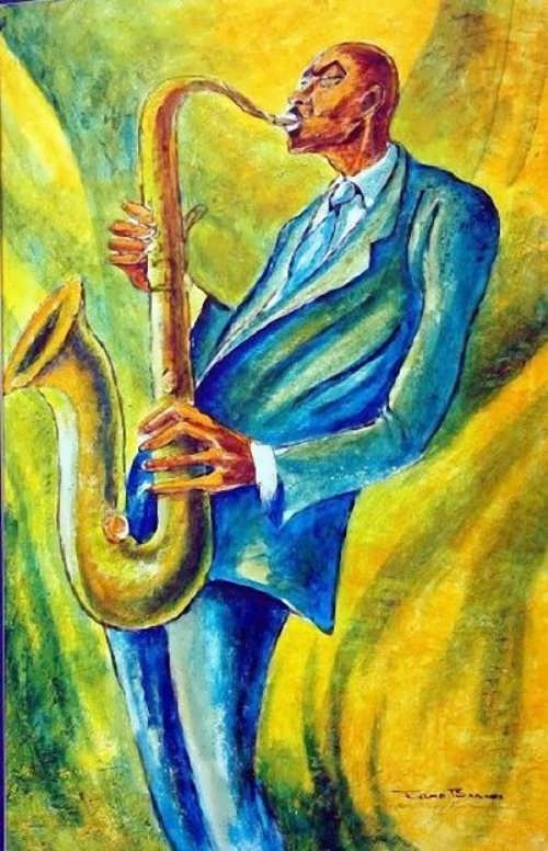 Ernie Barnes. Study for Jazz