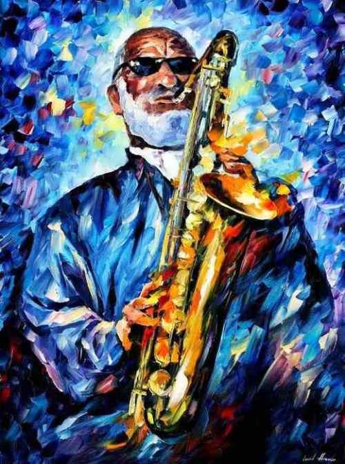 Leonid Afremov. Saxophonist